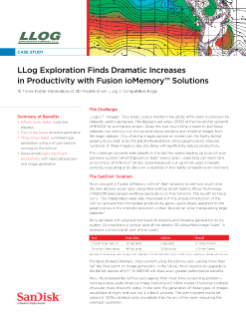 LLog Exploration Finds Dramatic Increases in Productivity with Fusion ioMemory Solutions