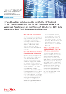 MICROSOFT® SQL SERVER® 2014 - DATA WAREHOUSE FAST TRACK (DWFT) REFERENCE ARCHITECTURE